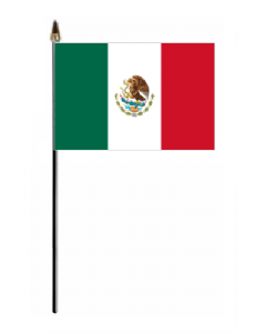 Mexico Country Hand Flag - Small.